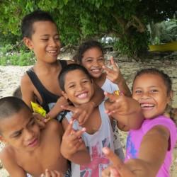 Hier stimmt die Sehschärfe: Kinder auf Tuvalu. Bild: BPO